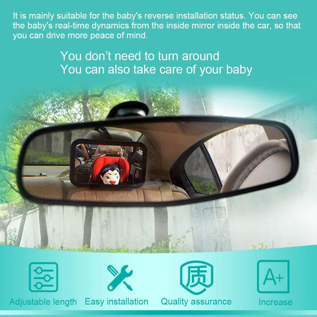 Spiegel Auto Baby 360/° schwenkbar f/ür Baby Kinderbeobachtung R/ücksitzspiegel LolStore R/ückspiegel Baby Autospiegel Shatterproof Car R/ückspiegel kompatibel mit meisten Auto drehbar doppelriemen
