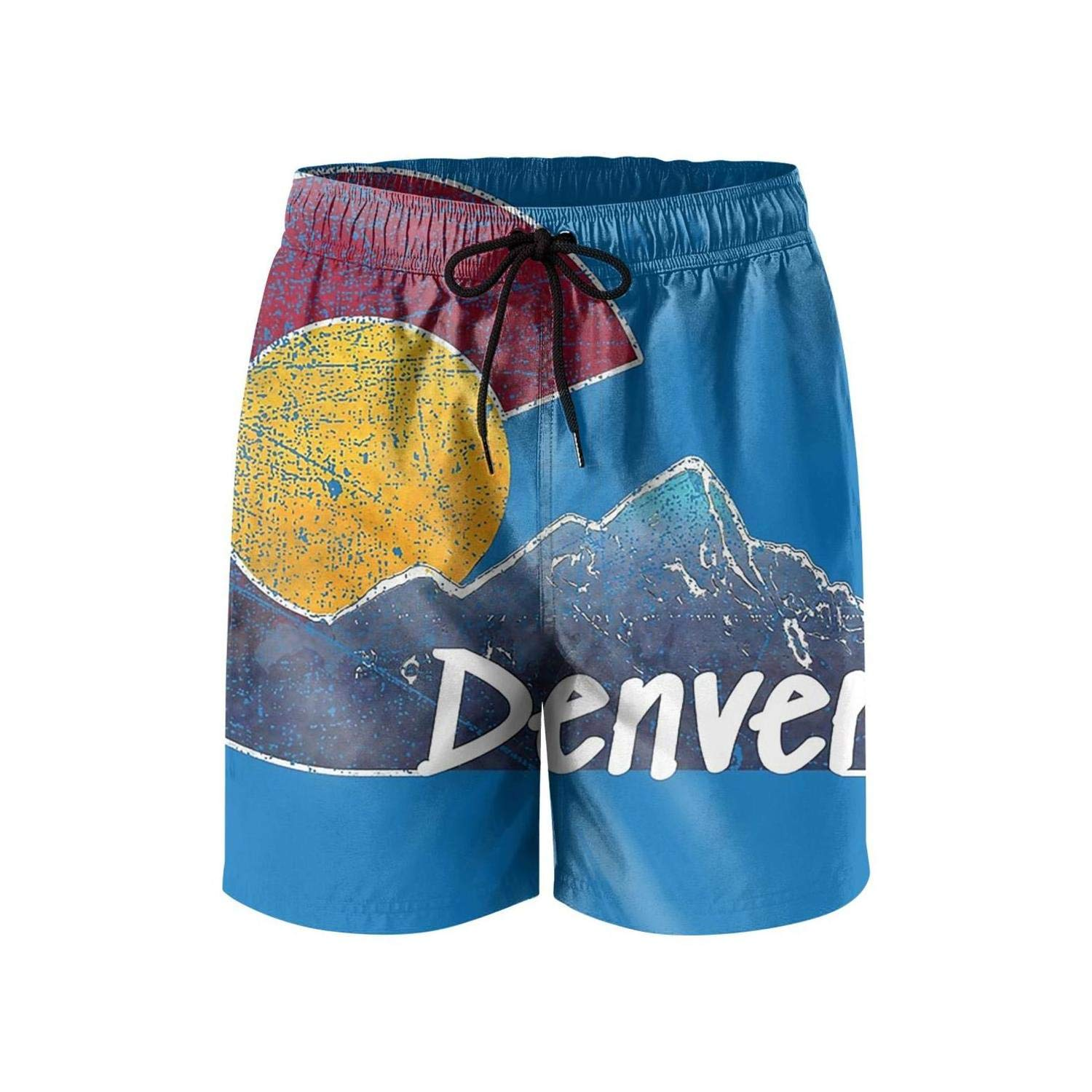 Colorado State Flag Poster Board Shorts for Men Surf Quick-Dry Swim Trunks