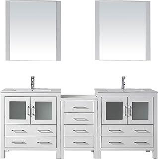 Captivating Virtu USA KD 70078 C WH Modern 78 Inch Double Sink Bathroom