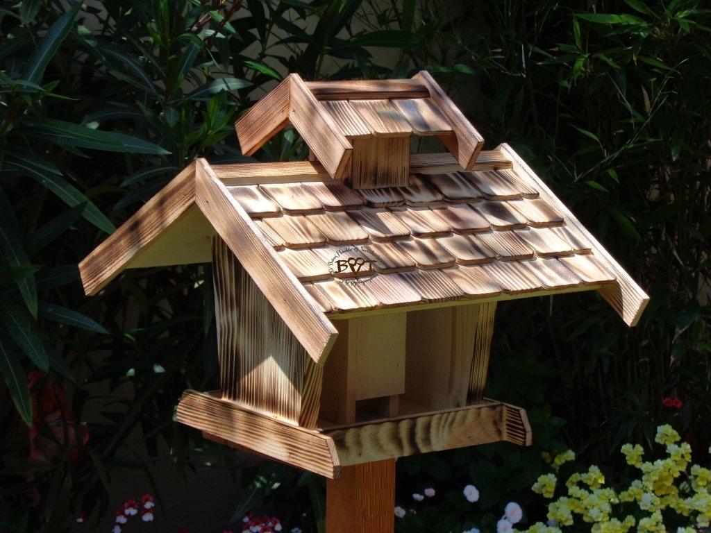 Vogelhaus-futterhaus - BTV-X-VOVIL4-gefla001 Schönes PREMIUM Vogelhaus - wetterfestes Vogelfutterhaus MIT FUTTERSCHACHT-