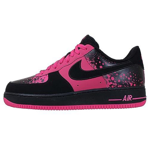 c518cc7b7dcc6 Nike Air Force 1 Men Sneakers Black/Vivid Pink 488298-616: Amazon.ca ...