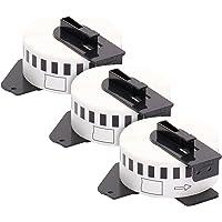 3 x Etiquetas, compatibles con dirección Brother DK11208 38mm x 90mm etiquetas bobina soporte papel térmico por rollo de…