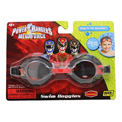 Swim Goggles Black and Red Colored Power Rangers Megaforce Kids: Toys & Games