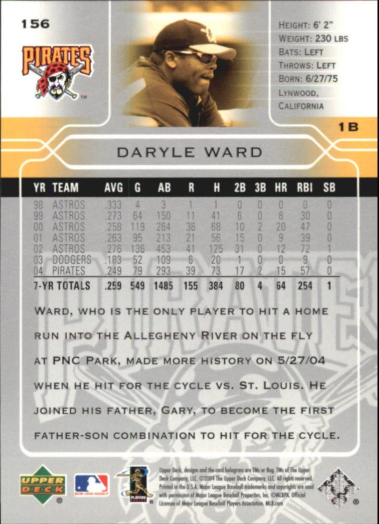 2005 Upper Deck #156 Daryle Ward at Amazon's Sports