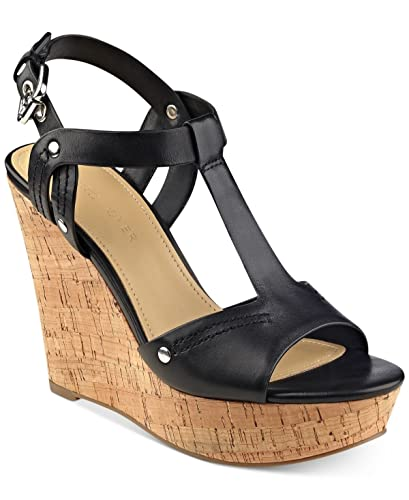 53d5c76fd35 Image Unavailable. Image not available for. Color  Marc Fisher Helma  Platform Wedge Sandals ...
