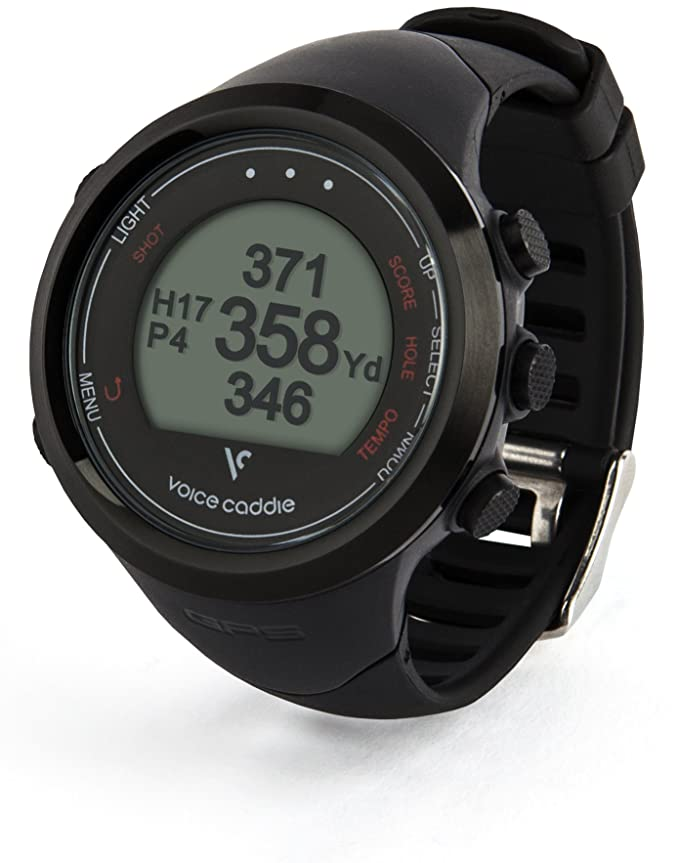 Amazon com : Voice Caddie T1 Hybrid Golf GPS Watch, Black