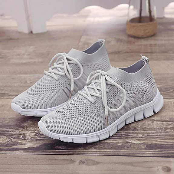 HULKY Sneakers Femme Baskets, Chaussettes Chaussures Tissage