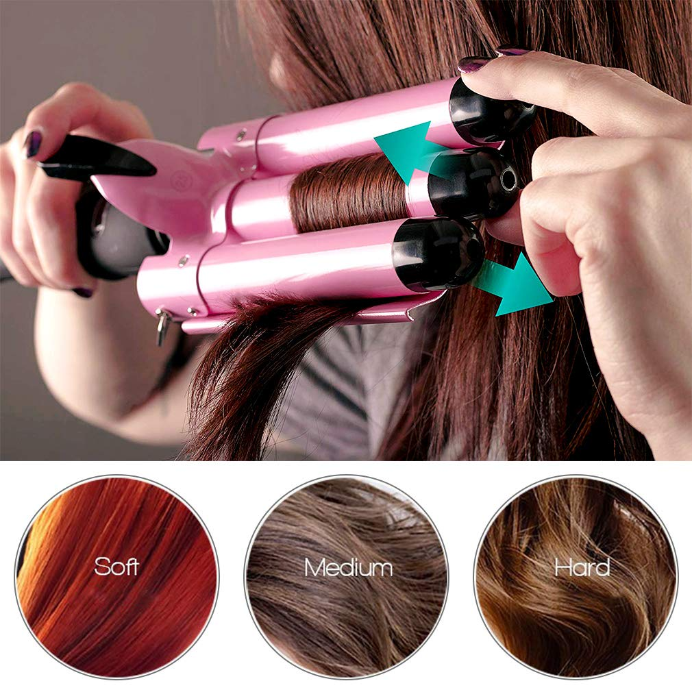 3 Barrel Curling Iron Hot Tools Curling Iron Fast Heating Ceramic Hair Waver Curler 25mm Hair Curling Wand style1