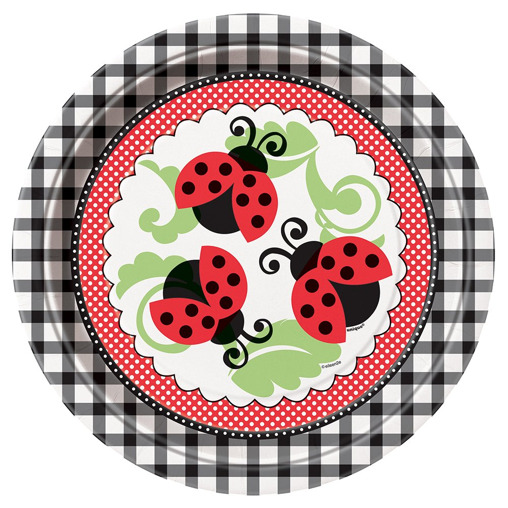 sc 1 st  Amazon.com & Amazon.com: Ladybug Dinner Plates 8ct: Kitchen u0026 Dining
