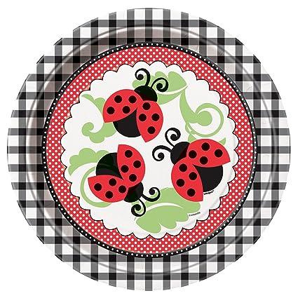 Ladybug Dinner Plates 8ct  sc 1 st  Amazon.com & Amazon.com: Ladybug Dinner Plates 8ct: Childrens Party Plates ...