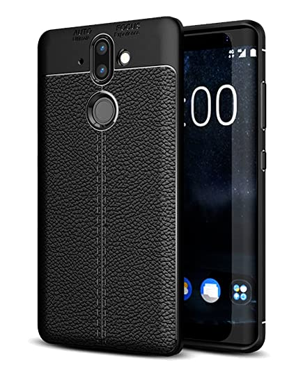 competitive price 4d0a7 1f9e5 Golden Sand Leather Texture Series Shockproof Armor TPU Back Cover for  Nokia 8 Sirocco 2018 (5.5