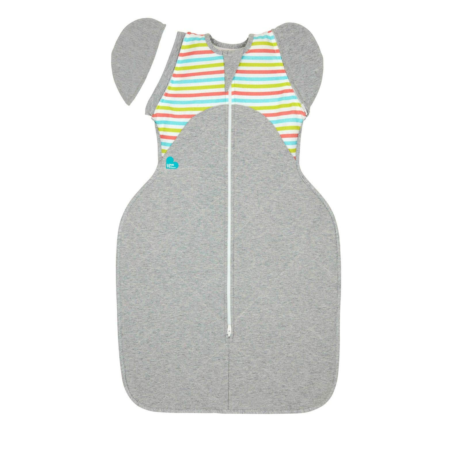 Love To Dream Swaddle UP 50/50 Transition Bag Warm, Multi, Medium, 13-19 lbs, Patented Zip-Off Wings, Gently Help Baby Safely Transition from Being swaddled to arms Free Before Rolling Over by Love To Dream
