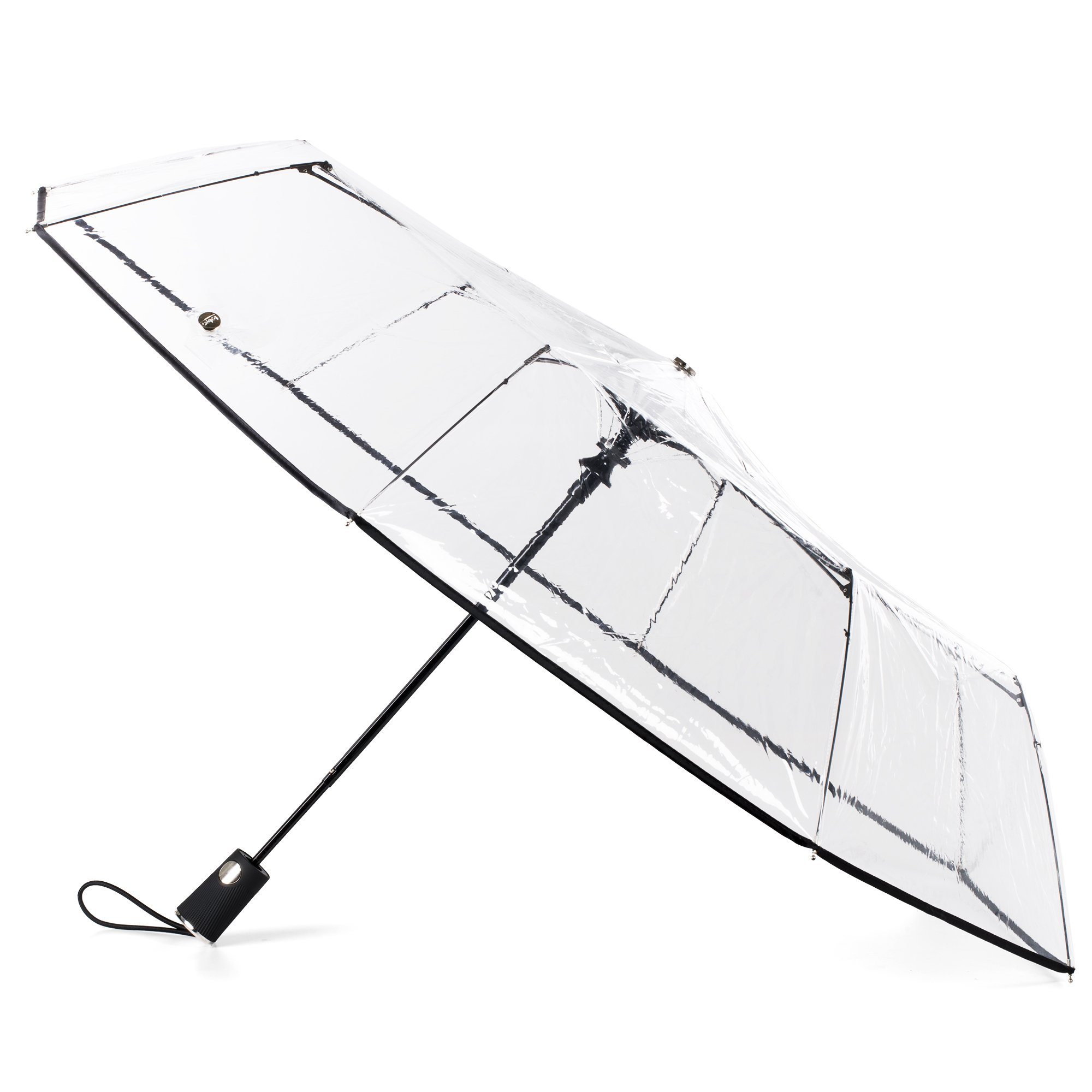 totes Clear Canopy Automatic Open Foldable Umbrella
