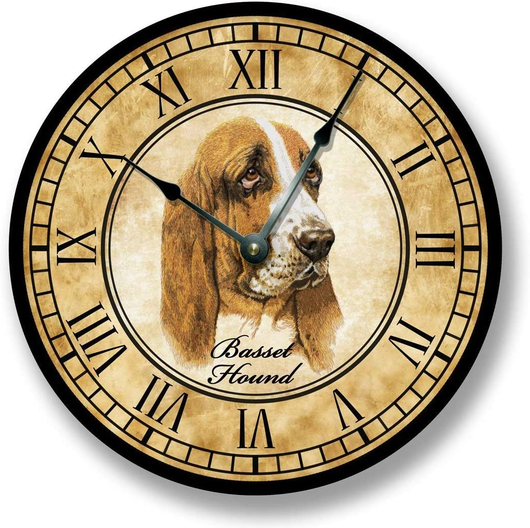 Basset Hound Dog Wall Clock Antique Decor
