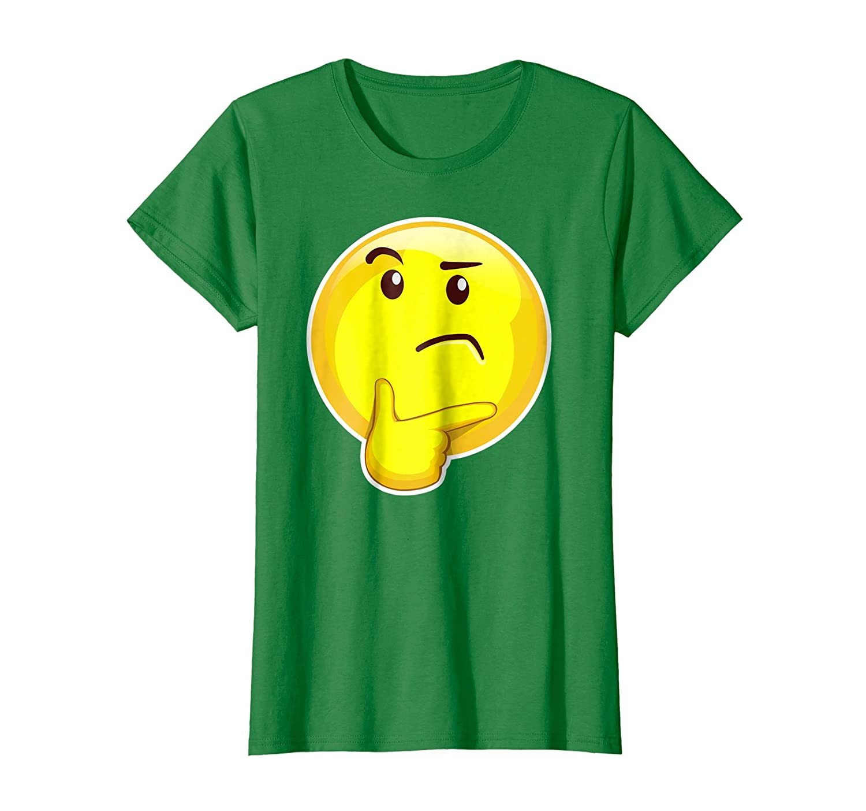 Amazon Skeptical Thinker Emoji Raised Eyebrows Smart T Shirt