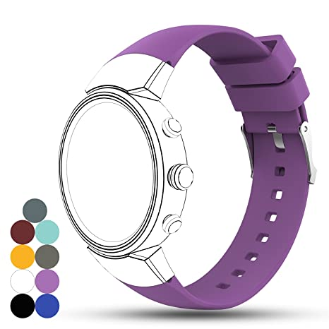 Bracelet de montre en gel de silicone pour Asus ZenWatch 3 Smart Fitness Taille unique violet: Amazon.fr: Sports et Loisirs