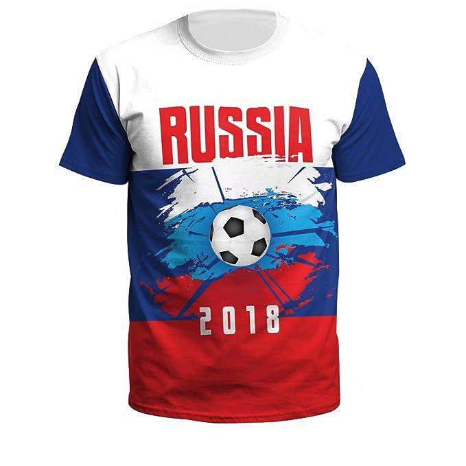 Copa Mundial de Fútbol 2018 Hombres Camiseta de Manga Corta Unisex Mujeres Gráficos Casual Camisetas Camiseta