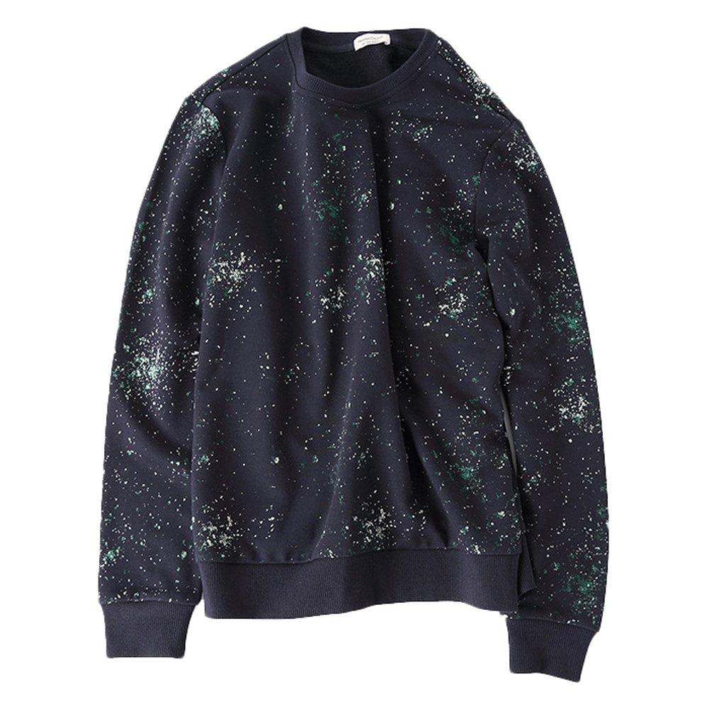 Men Printed Sweatshirt Bmeigo Crewneck Sweater Long Sleeve Sport Shirt