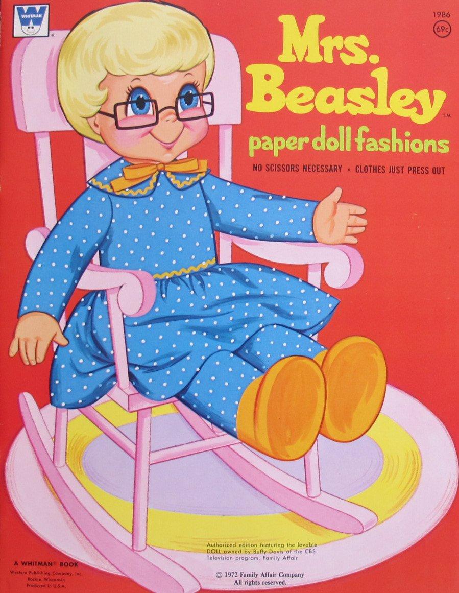 Whitman MRS. BEASLEY PAPER DOLL FASHIONS Book UNCUT (1972 FAMILY AFFAIR Co)