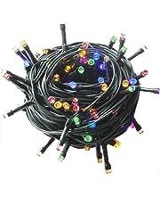 Noël Guirlande lumineuse LED, 300 Multicolore LEDs sur Câble Vert pour Noël, Sapin, Maison, Fêtes, Mariages, Anniversaire, Nouvel An