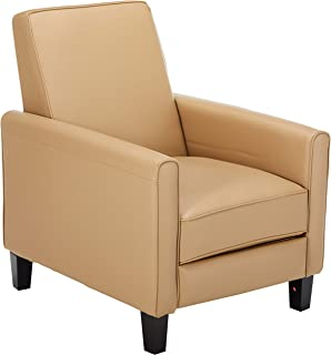 Amazon.com: Camel Leather Recliner Chair Luxury Sofa Seat ...