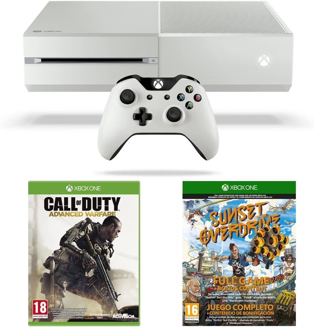 Xbox One White Console, Sunset Overdrive and Call of Duty ...