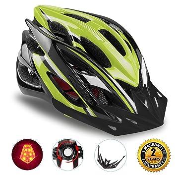 Shinmax Casco Especializado de la Bici con la luz de la Seguridad, Casco de Ciclo