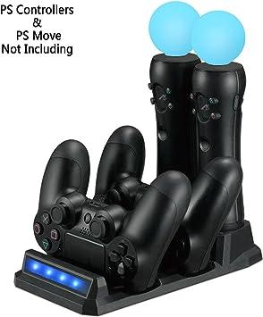 LILY PS VR / PS Move Controller Estación de carga / base de carga para PS4 / PS VR /
