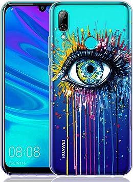 ZhuoFan Funda Huawei P Smart 2019, Cárcasa Silicona Transparente con Dibujos Diseño Suave Gel TPU Antigolpes de Protector Case Cover Fundas para Movil Huawei PSmart 6,21 Pulgadas, Ojo: Amazon.es: Electrónica