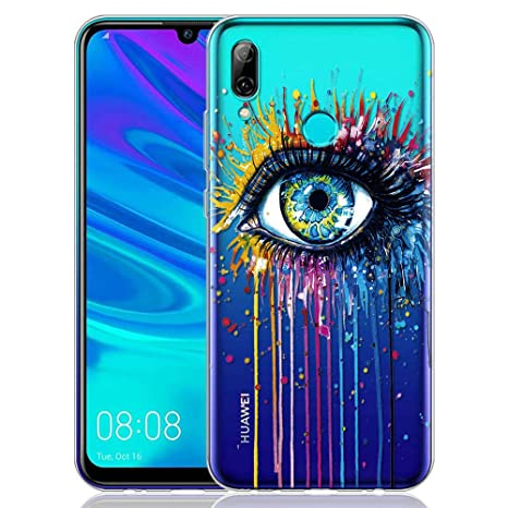 rivenditore all'ingrosso 1a57b 7ed9a ZhuoFan Huawei P Smart 2019 Case, Phone Case Transparent Clear with Pattern  Ultra Slim Shockproof Soft Gel TPU Silicone Back Cover Bumper Skin for ...