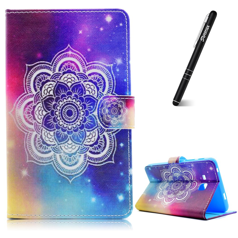 Galaxy Tab A 7.0 Case, Samsung Galaxy Tab A 7.0 Inch SM-T280 T285 Leather Case Wallet, Slynmax Mandala Design Flip Folio Notebook Cover Bookstyle Premium PU Leather Wallet Case Inner Soft