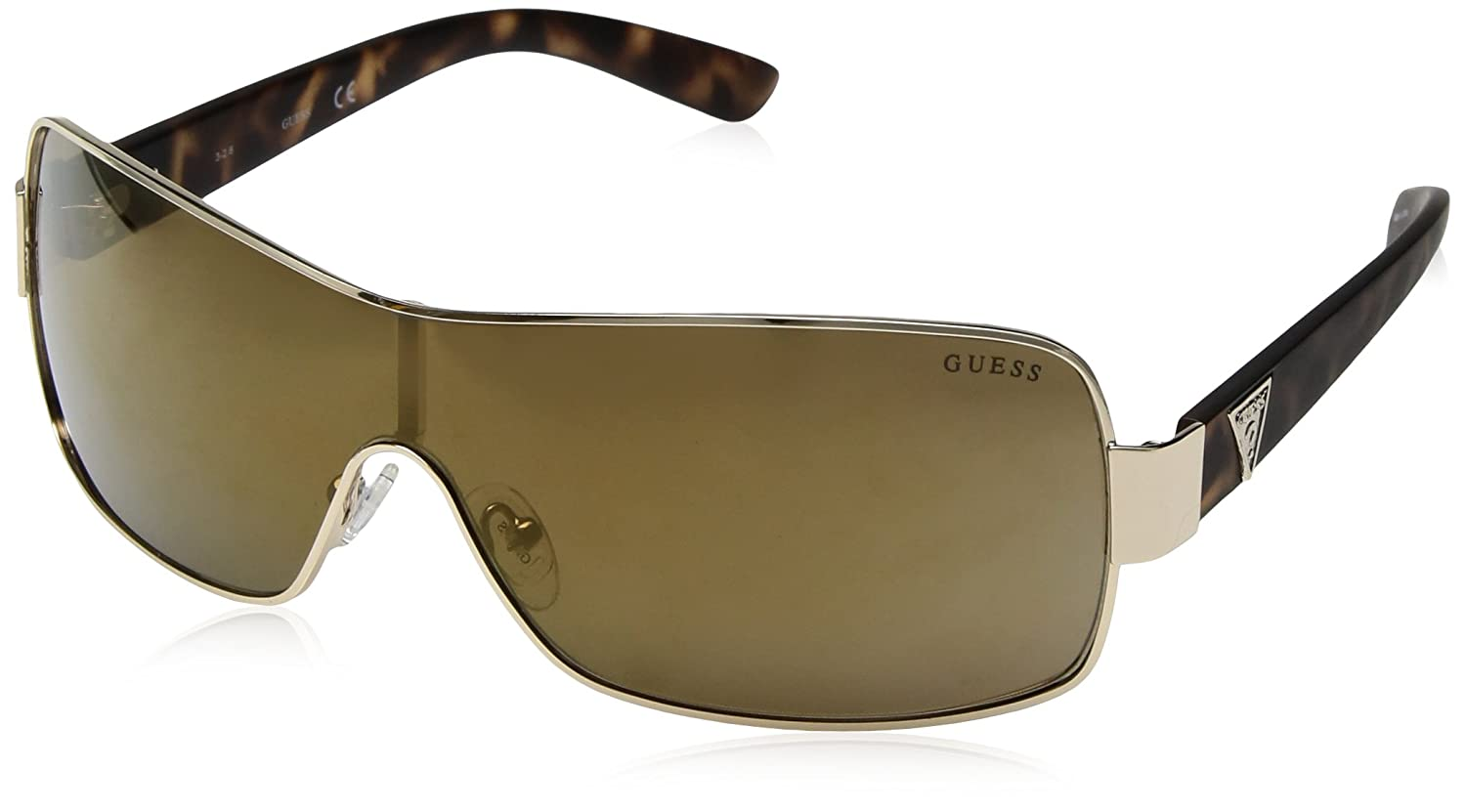 GUESS Factory Men's Mixed Shield Sunglasses Gold (Oro) 0 GF6594-0032G