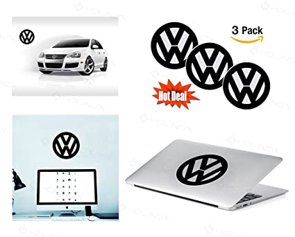 Volkswagen logo stickers decal set of 3 decals high resolution superior finish and