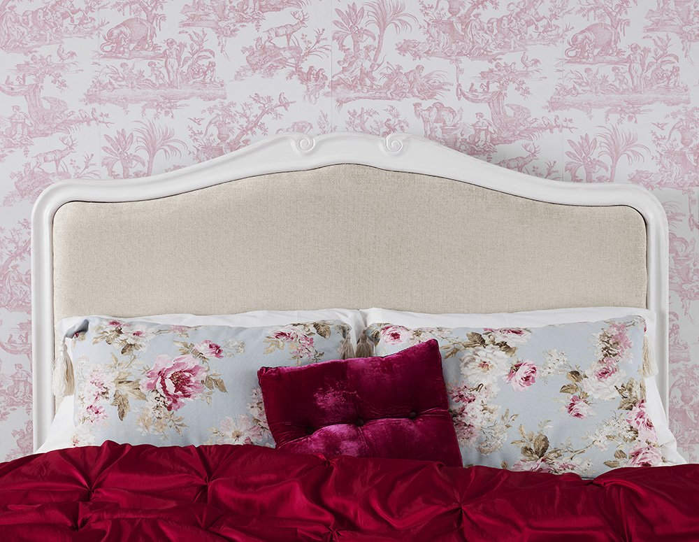 Juliette Shabby Chic Antique White Upholstered Double Bed. French ...