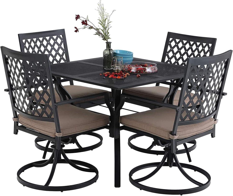 Perfect Garden Chairs Black Metal