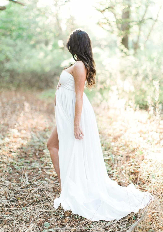 Mommy Jennie Spilt Front Maternity Dresses For Photography, Chiffon ...