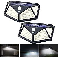 Apsung Solar Lights Outdoor,114 LED [3 Working Mode 1200mAh 120° Wide-Angle sensor] Solar Motion Sensor Lights,IP65…