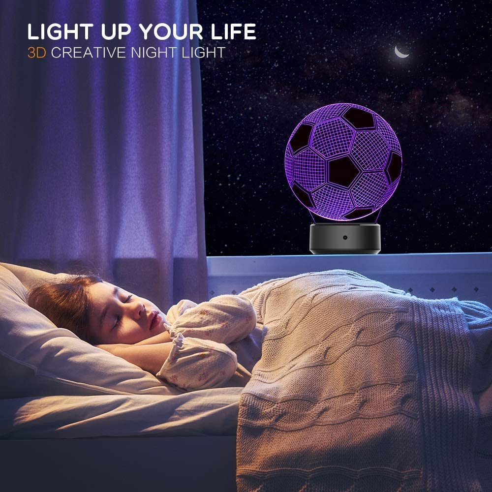 Basketball 3D Illusion Lamp Perfect Gifts Birthday Festival Christmas for Baby Teens Friends 3D Night Light for Boys Girls Table Desk Lamp 7 Color Change Decor Lamp