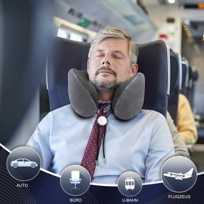 Reise Nackenkissen Flugzeug  Komfort Memory Schaum Kissen Urlaub Nackenhörnchen
