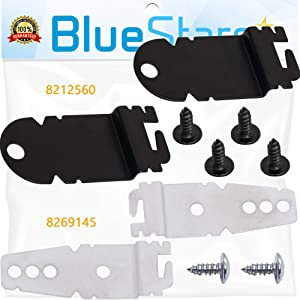 Ultra Durable 8212560 & 8269145 Dishwasher Mounting Brackets Kit With Screws Replacement by Blue Stars - Exact Fit for KitchenAid, Whirlpool, Kenmore Dishwashers