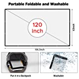 120 inch Projector Screen, 16:9 HD Indoor and