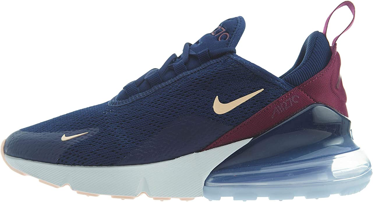 Nike Air Max 270 SE Sneakers Damen Blau/Weinrot (Blue Void/Crimson Tint/True Berry)
