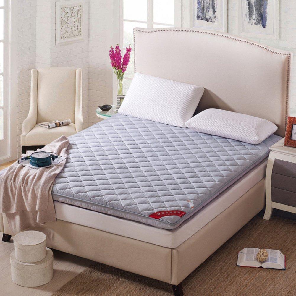 Yellow star Non-slip tatami floor mat, Portable sleeping pad quilted futon mattress topper foldable cushion mats dorm bed protection pad-B 90x200cm(35x79inch)