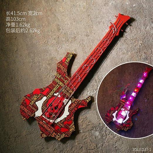 XURANFANG Decoraciones de Pared Luces led Retro Guitarra Colgante ...