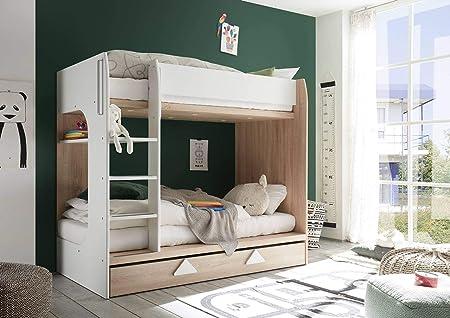 Letti A Castello Moderni.Lifestyle4living Letto A Castello In Rovere Sonoma Con Moderni