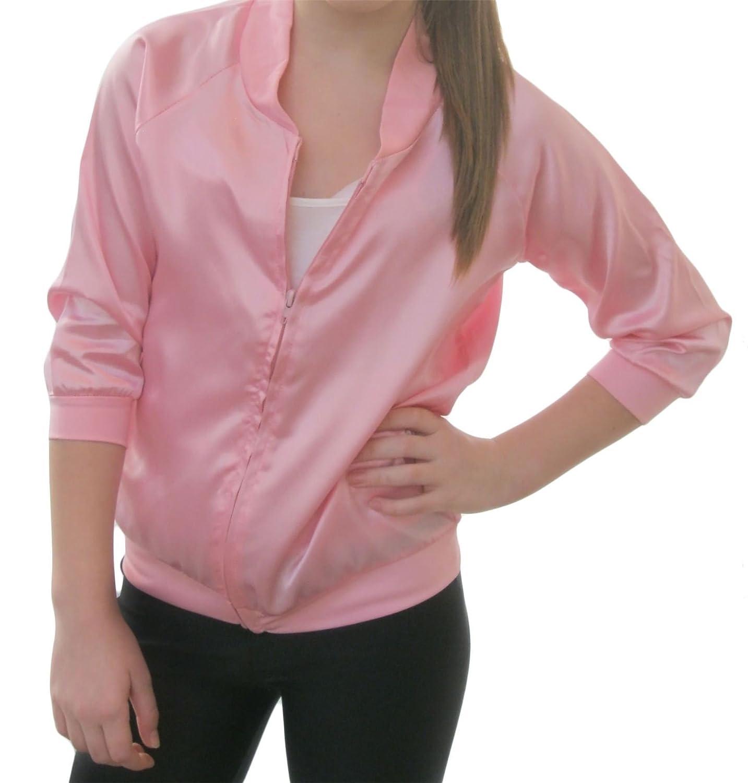 Islander Fashions Girls Teens Pink Silky Bomber Jacket Nios ...