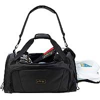 Gold BJJ Jiu Jitsu Duffle Bag - Waterproof Pocket for Sweaty Gi, Rashguard, or Shoes - The Perfect Duffel Bag for…