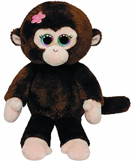 Amazon.com  Ty Beanie Babies Petals Monkey with Flower Plush  Toys   Games eb8b463fc6a1