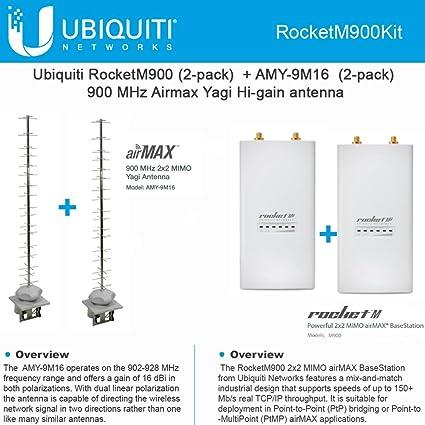 Amazon Ubiquiti RocketM900 2 Pack 900MHz AMY 9M16 X 16dBi