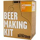 Brooklyn Brew Shop Afternoon Wheat Beer Making Kit: All-Grain Starter Set With Reusable Glass Fermenter, Brew Equipment, Ingredients (Malted Barley, Hops, Yeast) Perfect For Brewing Craft Beer At Home